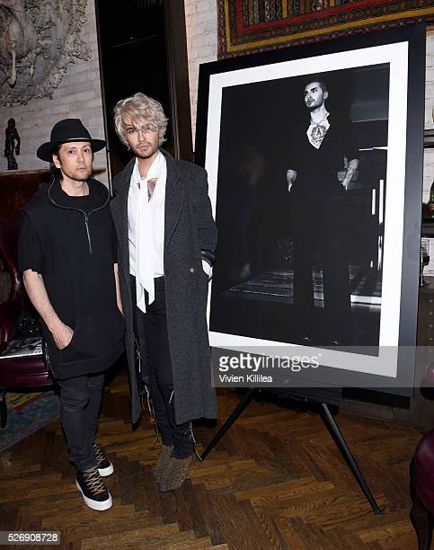 Shiro Gutzie and BILLY attend BILLY Love Don't Break Me Art Exhibit book launch and shortfilm screening on April 29 2016 in Los Angeles California