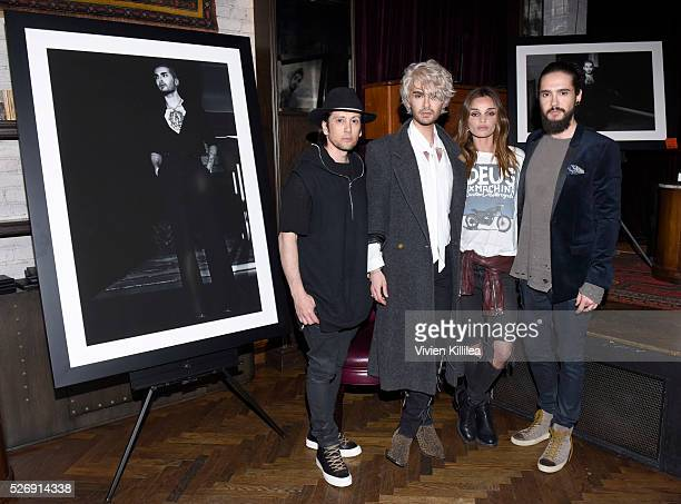 Shiro Gutzie BILLY Allie Crandell and Tom Kaulitz attend BILLY Love Don't Break Me Art Exhibit book launch and shortfilm screening on April 29 2016...