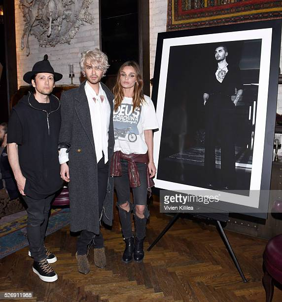 Shiro Gutzie BILLY and Allie Crandell attend BILLY Love Don't Break Me Art Exhibit book launch and shortfilm screening on April 29 2016 in Los...
