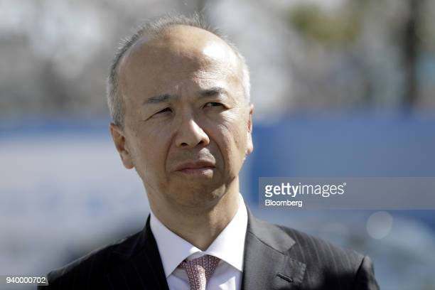 Shiro Yahara president and chief executive officer of Air Liquide Japan Ltd attends the opening ceremony of the company's Kawasaki Hydrogen Station...