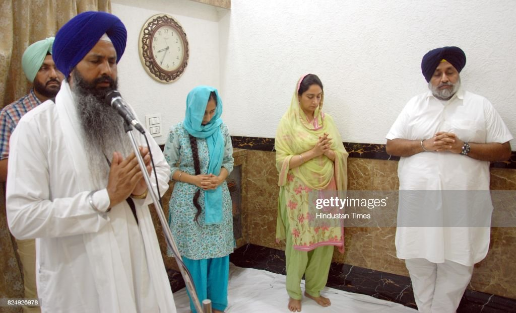 Shiromani Akali Dal President and former Punjab Deputy CM Sukhbir Singh Badal with his wife Harsimrat Kaur Badal Union Minister for Food Processing...