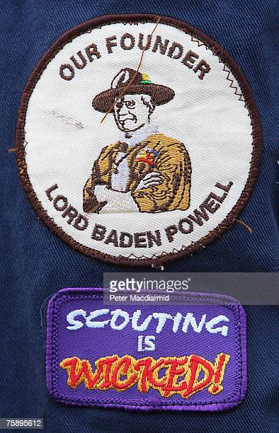 Shirt badges are displayed by a boy scout on August 1 2007 on Brownsea Island England Scouts from almost every country in the world have gathered to...
