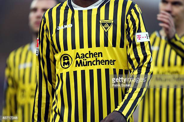 A shirt of Aachen pictured during the Bundesliga match between RotWeiss Oberhausen and Alemannia Aachen at the Niederrheinstadium on November 16 2008...