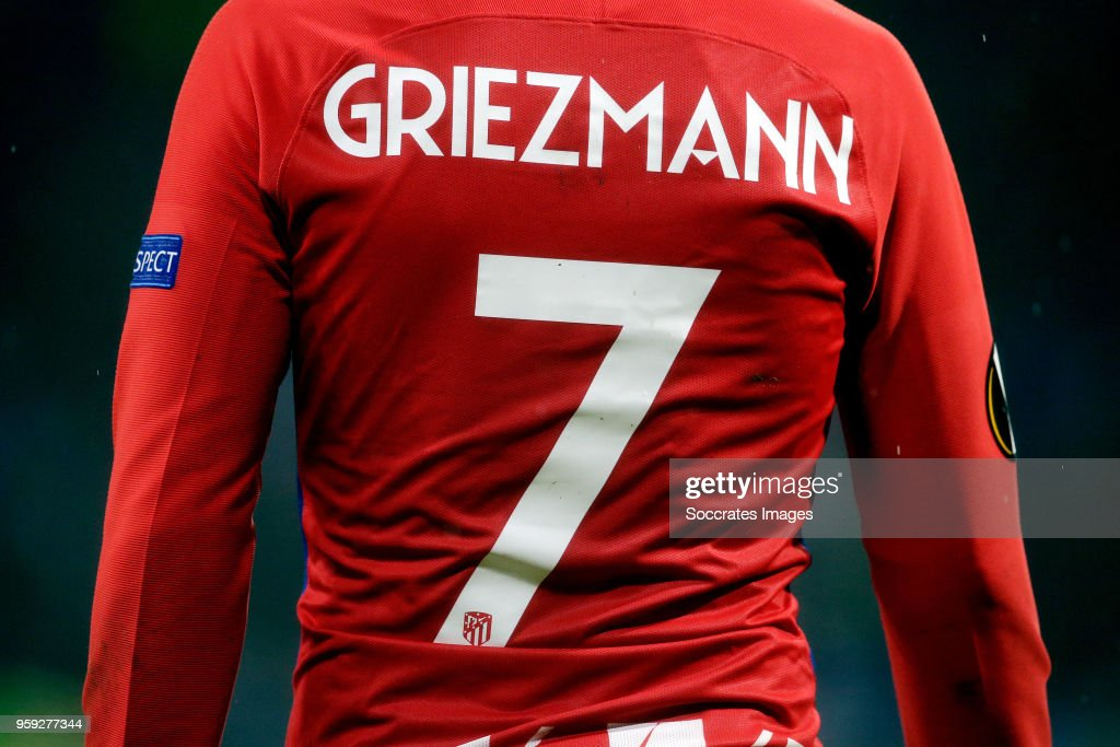 superior quality a0a86 6cd2f shirt of Antoine Griezmann of Atletico Madrid during the ...