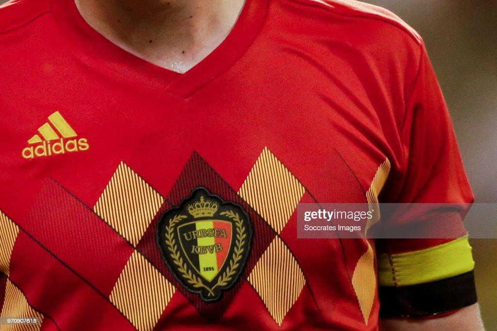 Shirt of Belgium with captaincy during the International Friendly match between Belgium v Egypt at the Koning Boudewijnstadion on June 6, 2018 in Brussel Belgium