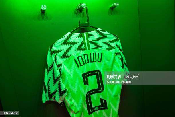 shirt of Ola Aina of Nigeria during the International Friendly match between England v Nigeria at the Wembley Stadium on June 2 2018 in London United...