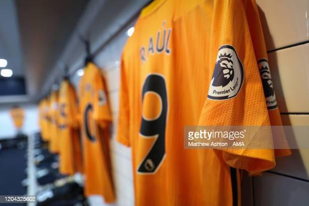 Shirt of Raul Jimenez of Wolverhampton Wanderers in the Tottenham Hotspur dressing room during the Premier League match between Tottenham Hotspur and...