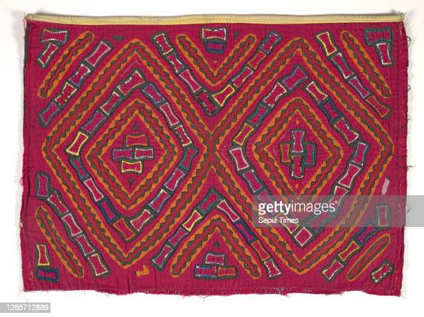 Shirt panel , Kuna people, about 1950s, appliqued cotton, 17-1/4 x 23-5/8 in., Textile and Fashion Arts.
