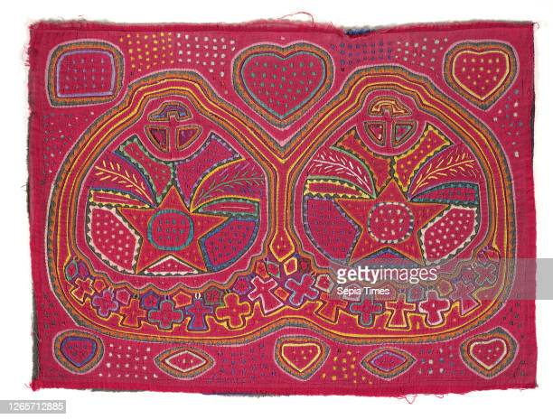 Shirt panel , Kuna people, about 1950s, appliqued cotton, 17-7/8 x 24-3/16 in., Textile and Fashion Arts.