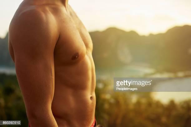 shirtless is de enige manier om te gaan - ontbloot bovenlichaam stockfoto's en -beelden