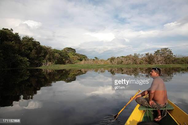 Blick auf den Dschungel und Fluss Amazonas