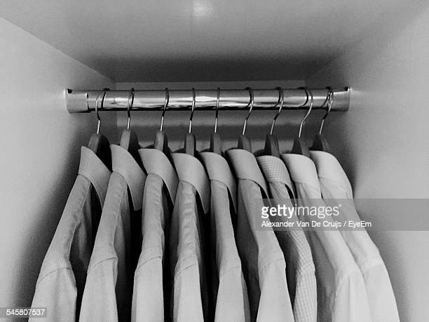 Shirts Hanging In Closet