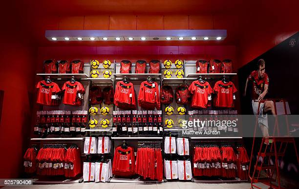 outlet store 597f0 a130e Man Utd Store Premium Pictures, Photos, & Images - Getty Images