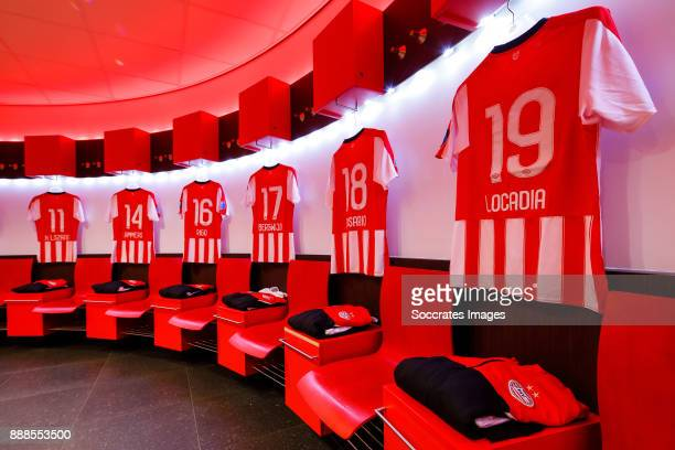 shirts of Hirving Lozano of PSV Sam Lammers of PSV Dante Rigo of PSV Steven Bergwijn of PSV Pablo Rosario of PSV Jurgen Locadia of PSV in the...