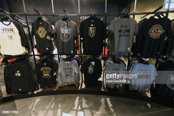 T shirts on display during the Vegas Golden Knights team store opening on  June 19 2017 d7f33fa83