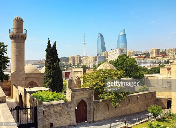shirvan shakir's palace - azerbaijan stock pictures, royalty-free photos & images