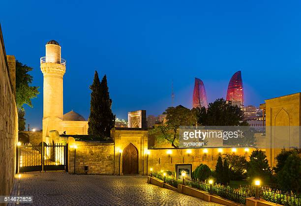 shirvan shakir's palace - syolacan stock pictures, royalty-free photos & images