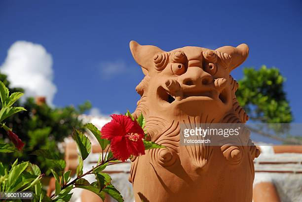 shisa - okinawa prefecture stock pictures, royalty-free photos & images
