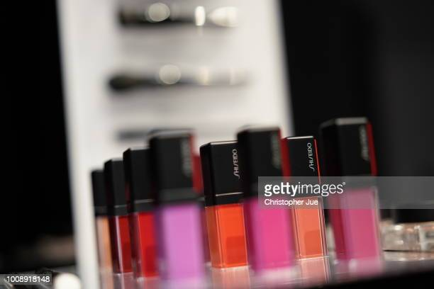 Shiseido products seen during the Shiseido Masterclass with Patrick Ta on August 1 2018 in Tokyo Japan