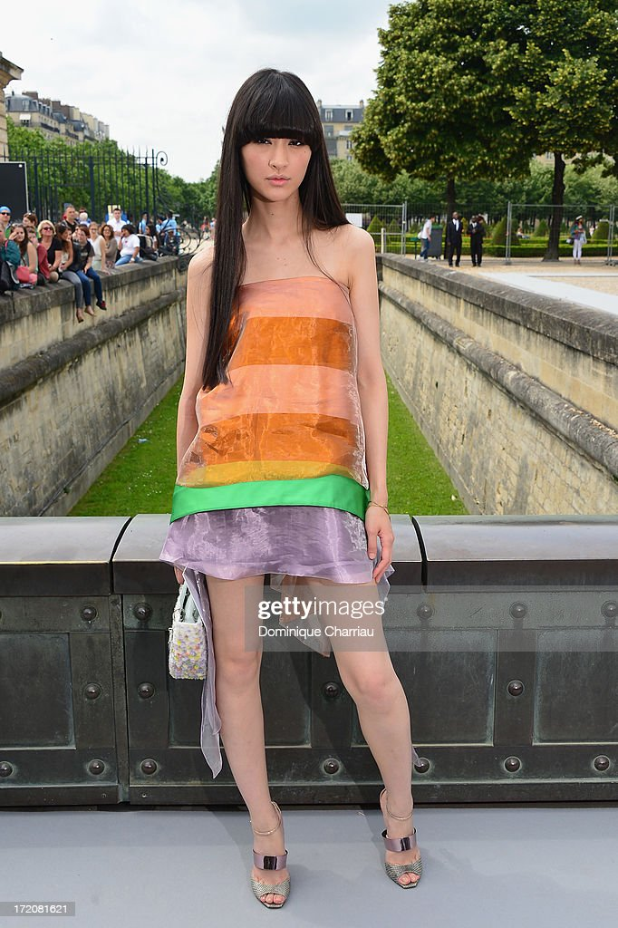 Shishido Kavka attends the Christian Dior show as part of Paris Fashion Week Haute-Couture Fall/Winter 2013-2014 at on July 1, 2013 in Paris, France.