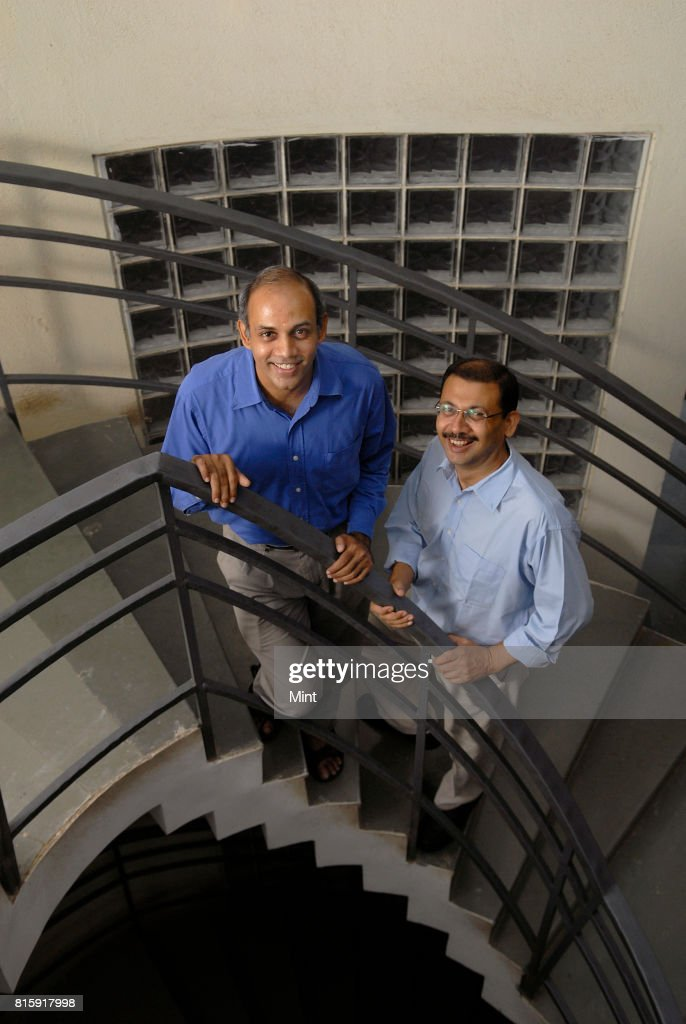 Shishir Jha and Sridhar Iyer, professors at IIT, photographed at IIT Bombay.