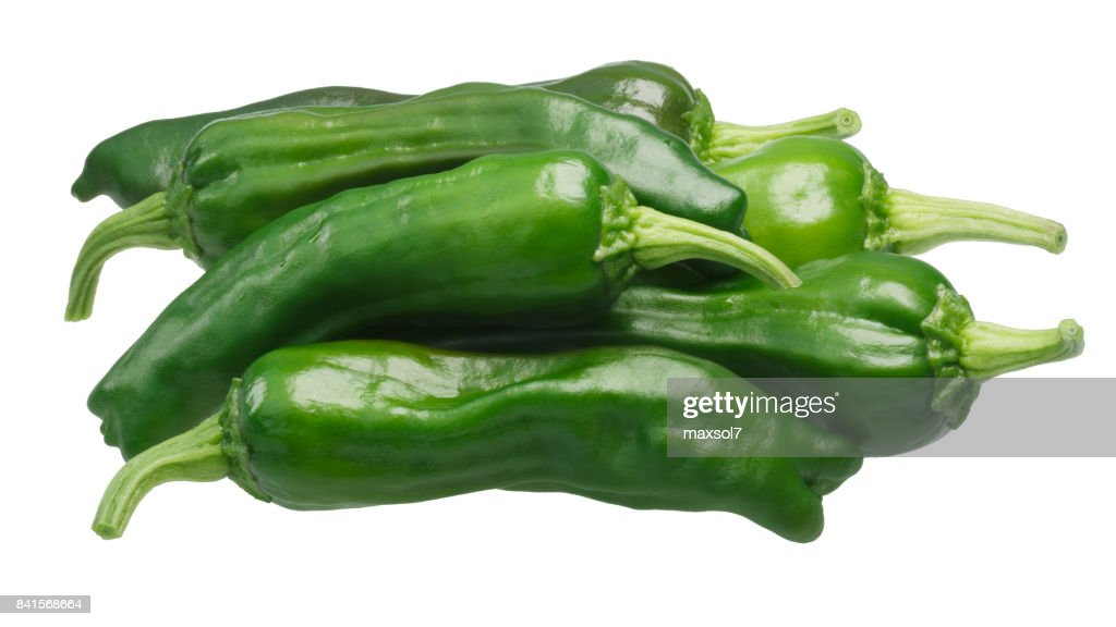 Shishito pickle Japapnese peppers pile, paths : Stock Photo