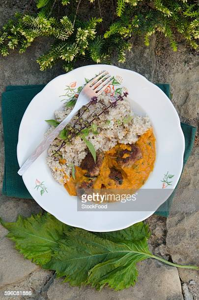 shiso curry with bulgur - shiso stock pictures, royalty-free photos & images