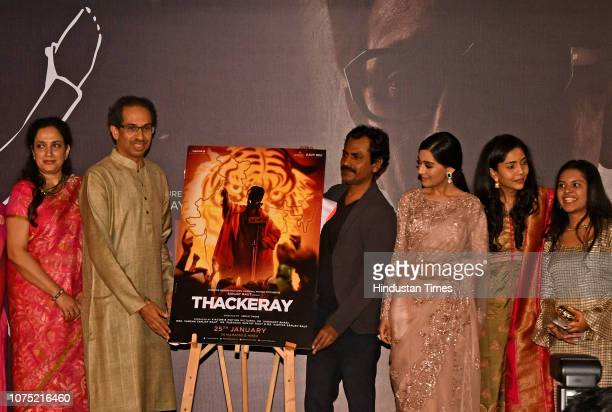 Shiv Sena President and MUMBAI INDIA December 26 Shiv Sena President and Bal Thackeray's son Uddhav Thackeray along with actors Nawazuddin Siddiqui...