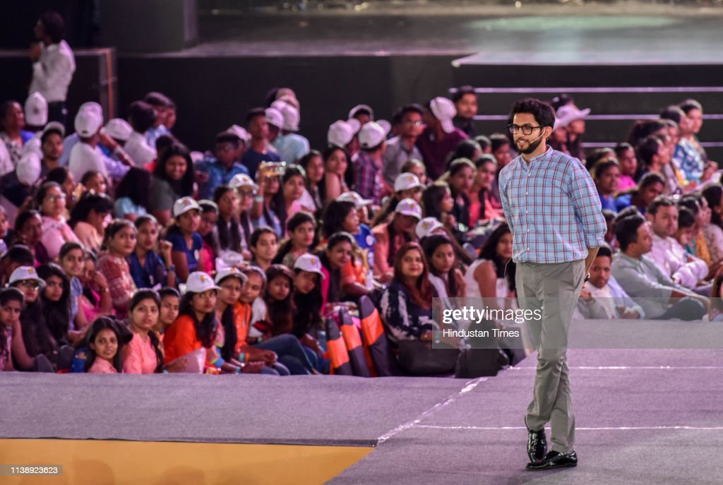 IND: Shiv Sena's Youth Wing Chief Aditya Thackeray Interacts With Youth At NSCI Dome