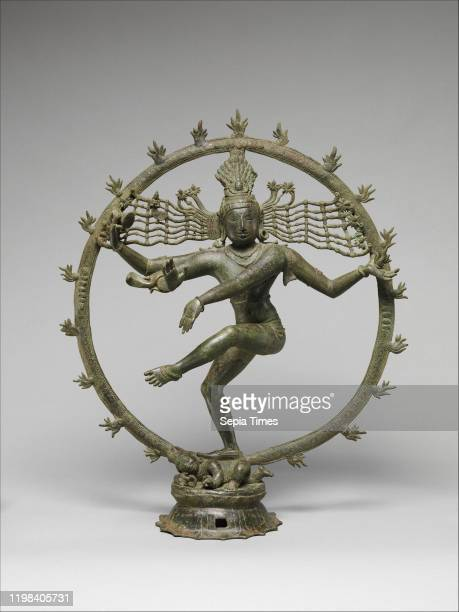 Shiva as Lord of Dance , Chola period , late 12th-early 13th century, India , Copper alloy, H. 25 3/4 in. ; W. 22 in. ; D. 7 3/4 in. , Metalwork.