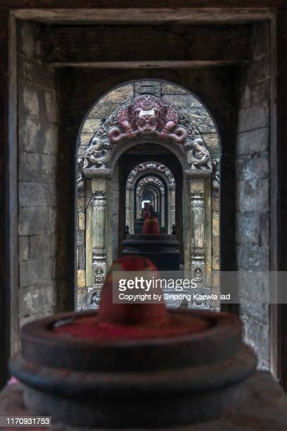 shiva linga stone at the pashupatinath temple, kathmandu, nepal. - pashupatinath stock pictures, royalty-free photos & images