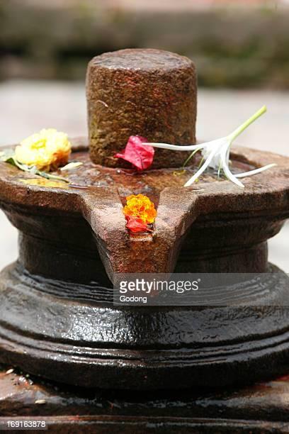 Shiva lingam altar.