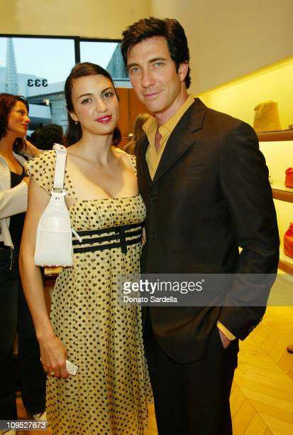 Shiva Rose and Dylan McDermott during Tod's Beverly Hills Boutique Charity Event To Benefit Caring For Children Families With Aids at Tod's Beverly...