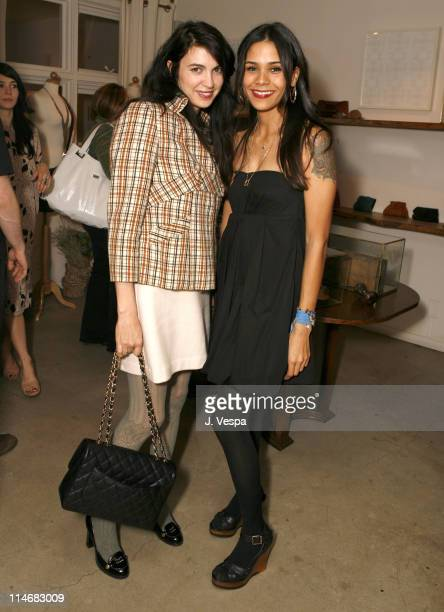 Shiva Rose and Kidada Jones during Cavern Wallpaper and Kidada for Disney Coutour Celebrate Their New Collections at Kaviar and Kind in West...