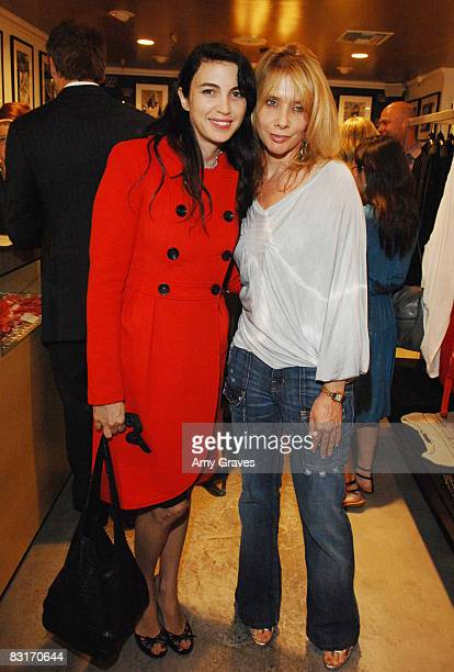 Shiva Rose and Rosanna Arquette Cohost the Launch of Barron Duqette's 15 Minutes at Fred Segal Hosted by DeLeon Tequila on October 7 2008 in Santa...