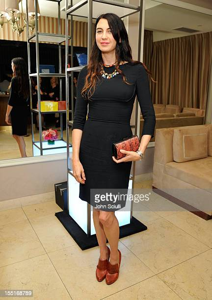 Shiva Rose attends a dinner hosted by Ali Larter celebrating the Devi Kroell Spring Summer 2013 Collection at Sunset Tower on November 1 2012 in West...