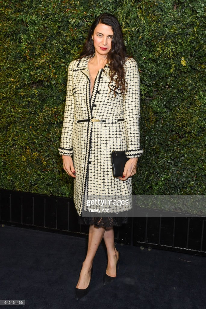 Shiva Rose attends Charles Finch and CHANEL Pre-Oscar Awards Dinner at Madeo Restaurant on February 25, 2017 in Los Angeles, California.