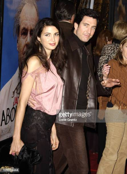 """Shiva Rose & Dylan McDermott during """"About Schmidt"""" Los Angeles Premiere - Arrivals at Academy of Motion Picture Arts and Sciences in Beverly Hills,..."""