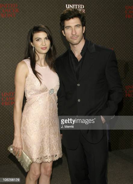 Shiva Rose Dylan McDermott during The Louis Vuitton United Cancer Front Gala at Private Holmby Hills Estates in Beverly Hills California United States