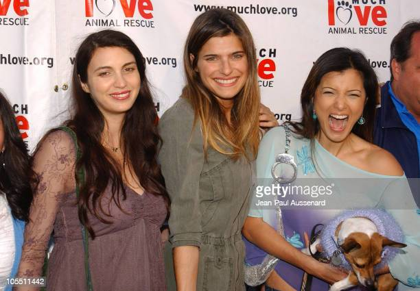 Shiva Rose Lake Bell and Kelly Hu during Much Love Animal Rescue Shop 'Til You Drool Benefit at 5th and Sunset Studios Los Angeles in Los Angeles...