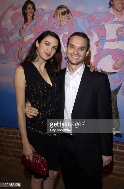 Shiva Rose McDermott and Jeff Vespa during Motorola Hosts Opening of Hollywood Graffiti First Exhibition from Artist Jeff Vespa to Benefit OPCC at...
