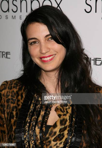 Shiva Rose McDermott during Hedwig and The Angry Inch at The Roxy Theatre Arrivals and Show at The Roxy Theatre in Hollywood California United States