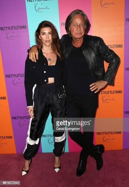 Shiva Safai and Mohamed Hadid attend the PrettyLittleThing x Karl Kani event at Nightingale Plaza on May 22 2018 in Los Angeles California