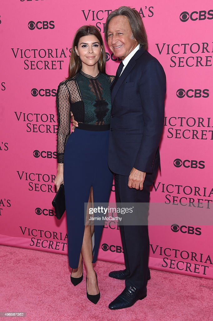 Shiva Safai (L) and Mohamed Hadid attends the 2015 Victoria's Secret Fashion Show at Lexington Avenue Armory on November 10, 2015 in New York City.