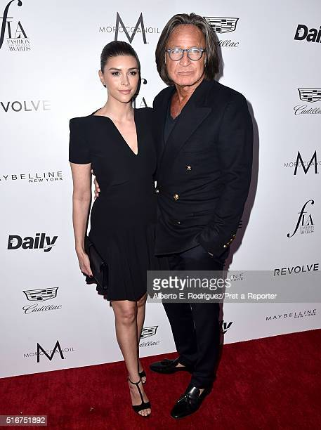 Shiva Safai and real estate entrepreneur Mohamed Hadid attend the Daily Front Row 'Fashion Los Angeles Awards' at Sunset Tower Hotel on March 20 2016...
