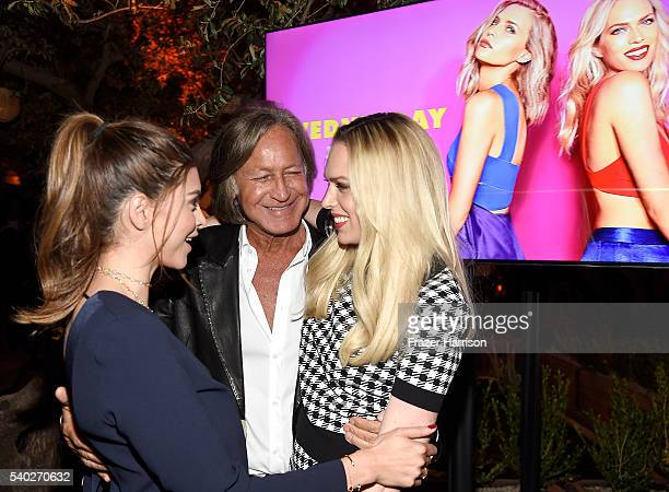 Shiva Safai Mohamed Hadid and TV personality Erin Foster attend VH1's Barely Famous Season 2 Party on June 14 2016 in West Hollywood California