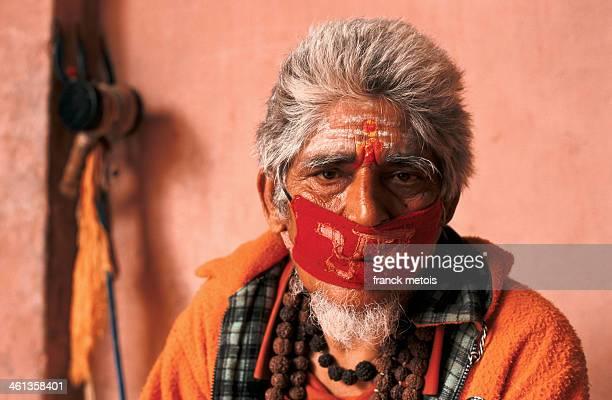 Shiva worshipper engaged in austerities