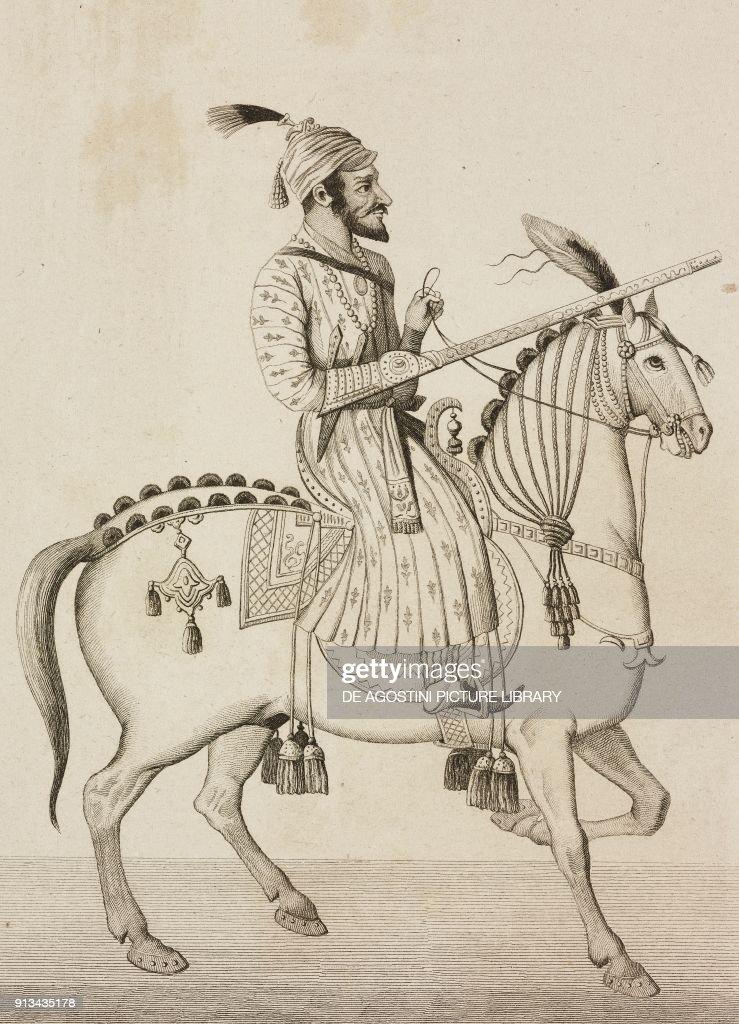 Shivaji Bhonsle Indian maharaja, by Lemaitre : News Photo