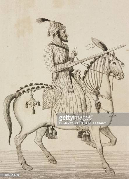 Shivaji Bhonsle Indian maharaja engraving by Lemaitre from Inde by Dubois De Jancigny and Xavier Raymond L'Univers pittoresque published by Firmin...