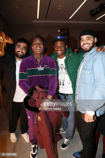 Shivman Pandya Ski Mask The Slump God Steven Victor and guest attend the Republic Records PreGrammy Party at Cadillac House on January 26 2018 in New...